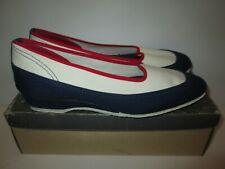 New listing Keds Summerettes Slip On Shoes Women's 8.5 Red / White / Blue Vintage Nos