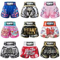 TUFF Muay Thai Kick Boxing Shorts Training Fitness Black Blue Pink Red White