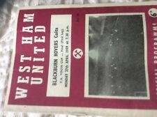 1959 FA YOUTH CUP FINAL WEST HAM UNITED V BLACKBURN ROVERS