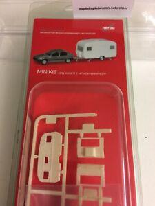 Herpa MiniKit: Opel Kadett E GLS mit Wohnanhänger (013420)