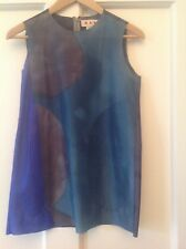 STUNNING sleeveless MARNI TOP in lovely colour scheme size IT 38 UK8