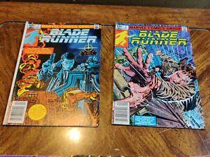 Blade Runner #1 October #2 November  1982 Marvel lot of two comic books