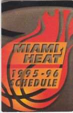 Miami Heat Basketball Vintage Sports Schedules for sale | eBay