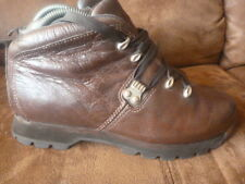 TIMBERLAND SIZE UK 6.5 WIDE BROWN LEATHER BOOTS