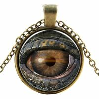 Satanic Baphomet Pagan Wicca Evil Eye Necklace Pendant Gothic Devil Eye Necklace