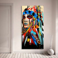 LMOP73 100% hand-painted MODERN abstract OIL PAINTING on CANVAS ART:indian girl