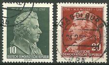 DDR MiNr. 510-511 (Mozart) kpl. gestempelt