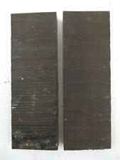 "Texas Knifemakers Supply:Exotic Natural Wood Knife Handle Ebony 5 x 1 1/2 x 3/8"""