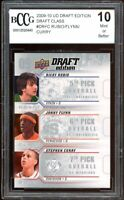 2009-10 UD Draft Edition #DRFC Rubio/ Stephen Curry Rookie BGS BCCG 10 Mint+