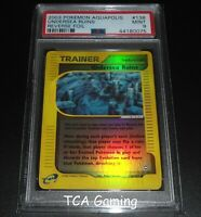 PSA 9 MINT Undersea Ruins 138/147 Aquapolis Set REVERSE HOLO Pokemon Card