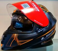LS2 Helmets - FF302-Hyperion Black Orange-Full Face Dual Visor Motorcycle Helmet