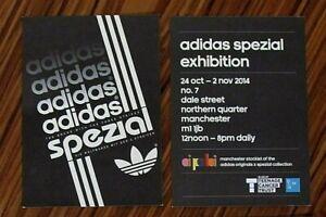 Rare Adidas Originals Spezial - Manchester 2014 Exhibition Carded Flyers x 2