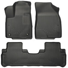 2014-2017 Toyota Highlander Husky Weatherbeater Front & 2nd Row Floor Liners