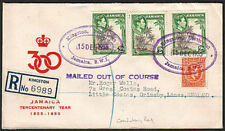 JAMAICA 1955 KINGSTON NORTH WEST TRD, Mailed out of Course.................17558
