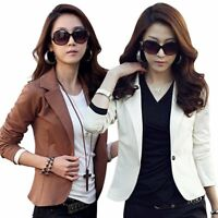 Casual Women OL Ladies Tops Slim Blazer Suit Short Coat Jacket Fashion Blouse