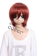 W-10-350 Marron Brown 33cm cosplay perruque wig perruque cheveux hair anime manga