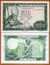 Spain, 1000 pesetas, 1965, P-151, XF