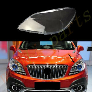 For Buick Encore 2013~2016 Left Side Headlight Cover Clear Pc + Sealant Glue
