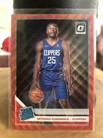 2019 Donruss Optic China TMall Red Wave Rated Rookie Mfiondu Kabengele. Clean!