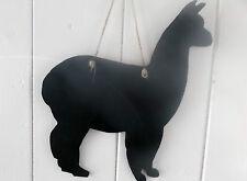 ALPACA chalkboard wall plaque memo sign handmade animal shaped sign llama
