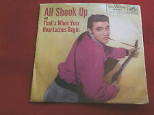 ELVIS PRESLEY~ALL SHOOK UP~THAT'S WHEN YOUR HEARTACHES BEGIN~RCA 47-6870~ POP 45