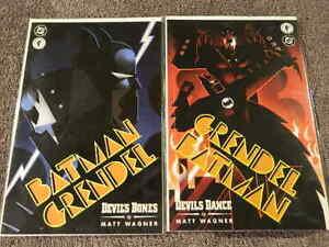 1996 DC & DARK HORSE Comics BATMAN GRENDEL #1-2 Complete Devil's Bones - NM/MT