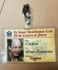 Princess Bride ID Badge- Vizzini Hired Assassin cosplay costume prop