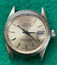 Rolex Ladies Datejust Vintage 14k Gold DJ Champ Roman Ref 6827 Automatic 1973