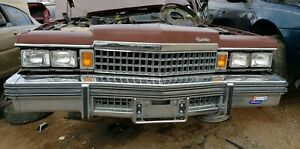1977 1979 FLEETWOOD DEVILLE FRONT BUMPER OEM USED CADILLAC COUPE SEDAN 1978