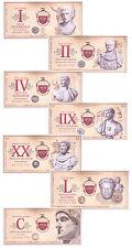 (2007) Roman Empire Fantasy Banknotes 7-Piece Set SKU47184