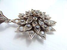 + Paste flower Pendant Georgian Regency Period Silver