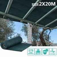OGL 90% UV Block Sun Shade Cloth Sail Roll 2x20m Outdoor Mesh Shadecloth Green