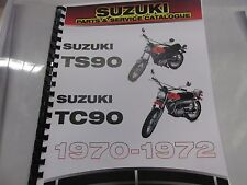 Suzuki TS90 TC90    parts & service combo  manual  1970-1972