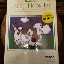 Chocolate Dog by Caron International Wonderart 4696 12-Inch by 12-Inch Latch-Hook Kit
