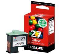 NO BOX NEW Lexmark #27 Color Ink Cartridges GENUINE