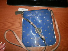 NEW WITH TAGS GUESS COLOR BLUEBERRY HULA GIRL MINI CROSS BODY PURSE $58.00 NEW