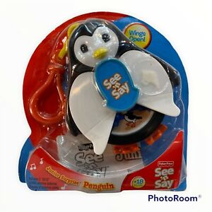 New Fisher Price See N' Say JR Junior Surprise Penguin 2009 Mini Clip On Toy j
