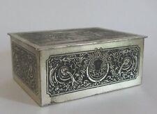 "ANCIENNE BOITE A BIJOUX "" en visite "" EN REGULE ANTIQUE JEWELRY BOX TRINKET"