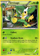 BW NEXT DESTINIES POKEMON REVERSE HOLO RARE CARD - SIMISAGE 7/99