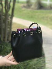 Michael Kors Black Fuchsia Greenwich Small Saffiano Leather Bucket Bag