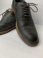 Perry Ellis Mens Dress Shoes America Oxford Gray/brown sz 10.5 Excellent Shape