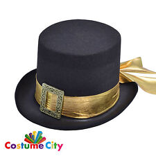 Adults Mens Victorian Steampunk Top Hat Fancy Dress Party Costume Accessory