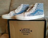 NEW Vans Sk8 Hi Reissue CA Collection Men 11 Italian Weave Suede Blue Ortholite