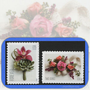 2020  Contemporary BOUTONNIERE & Garden CORSAGE Forever® MINT Stamp Set #5457-58