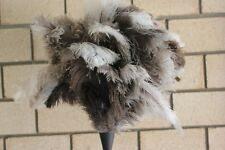 European type ostrich feather duster 90cm wood stained handle 1st Grade Xlarge