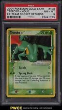 2004 Pokemon EX Team Rocket Returns Gold Star Holo Treecko #109 PSA 8 NM-MT