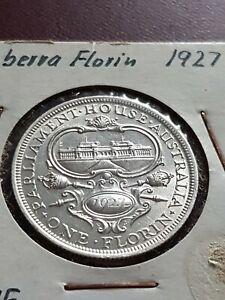 Australian Florin 1927 Canberra better Grade! #0143