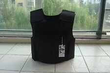 New Black Combat Tactical Soft Bullet proof vest IIIA NIJ0101.06 size:L~XL