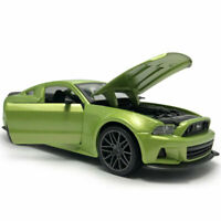 1:24 2014 Ford Mustang Street Racer Diecast Model Car Collection Green Boys Gift