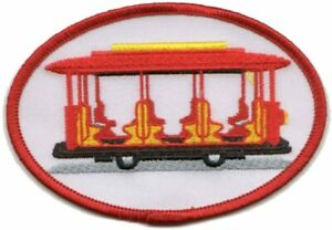 "Mister Rogers & Daniel Tiger Neighborhood Trolley Patch 4""x2.75"" (Iron / Sew On)"